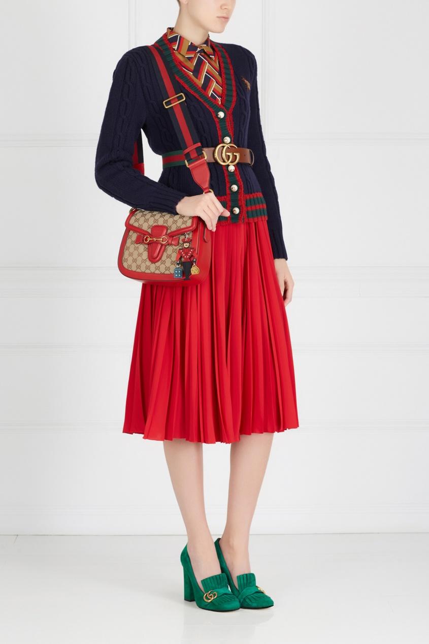 Фото 4 - Шерстяной кардиган от Gucci черного цвета