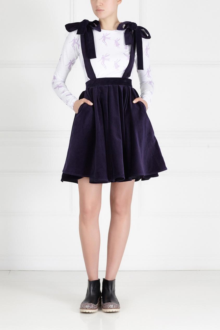 Бархатная юбка-сарафан