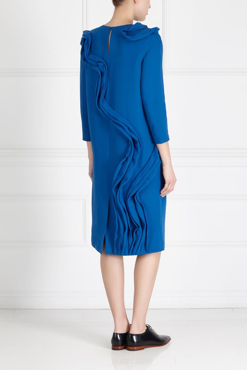 Фото 4 - Шерстяное платье от Alena Akhmadullina синего цвета