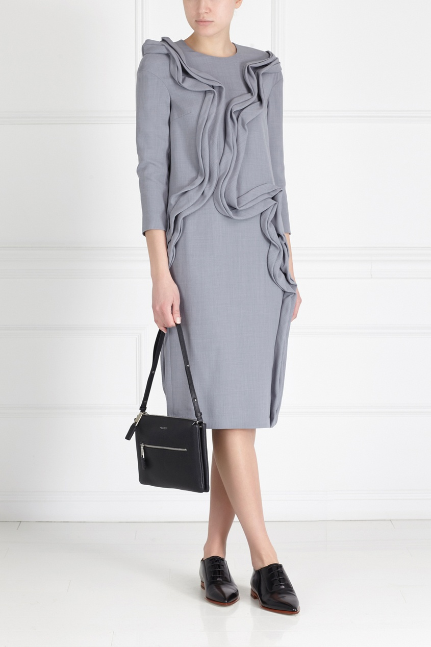 Фото 3 - Шерстяное платье от Alena Akhmadullina серого цвета
