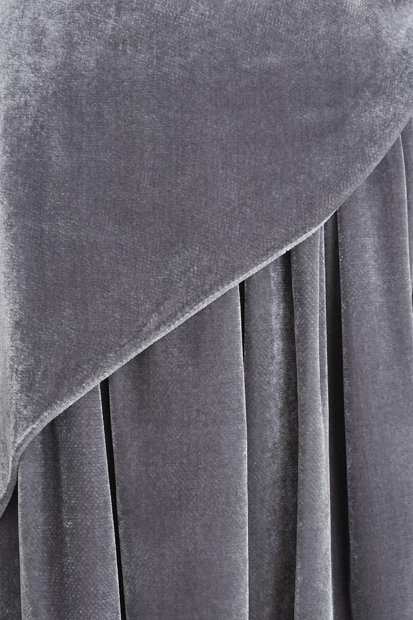 Фото 2 - Бархатная юбка от Alena Akhmadullina серого цвета