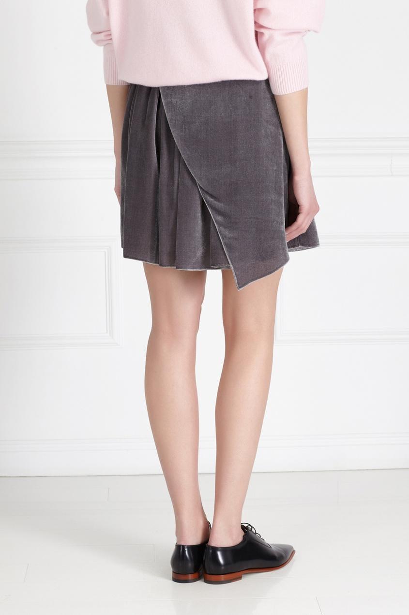 Фото 4 - Бархатная юбка от Alena Akhmadullina серого цвета