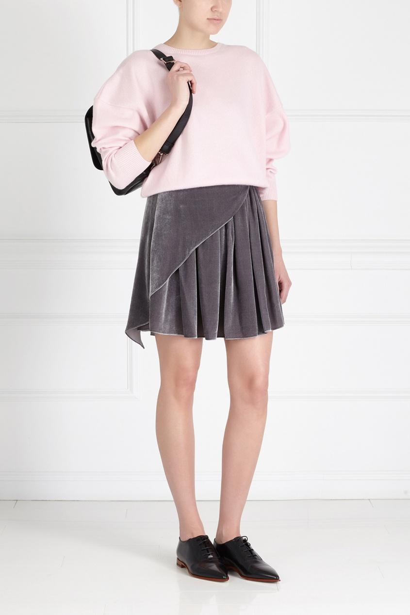 Фото 5 - Бархатная юбка от Alena Akhmadullina серого цвета