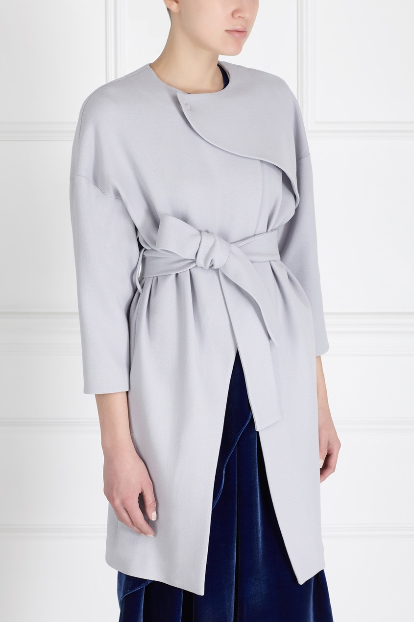 Фото 6 - Шерстяное пальто от Alena Akhmadullina серого цвета