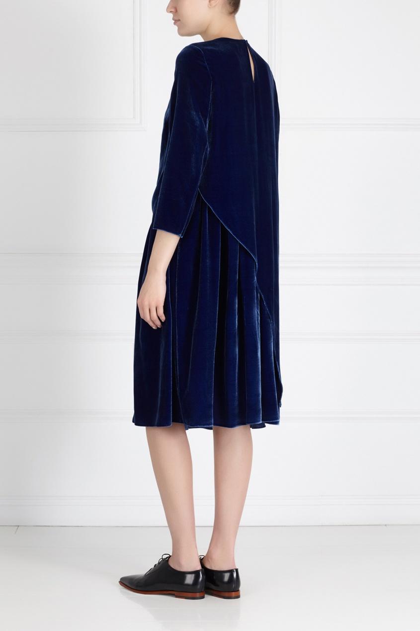Фото 4 - Платье из синего бархата от Alena Akhmadullina синего цвета