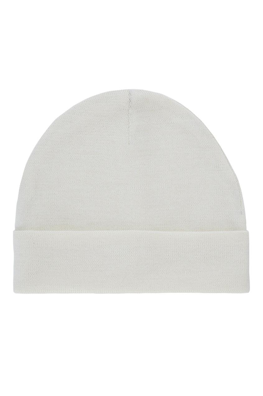 Фото 2 - Шерстяная шапка белого цвета