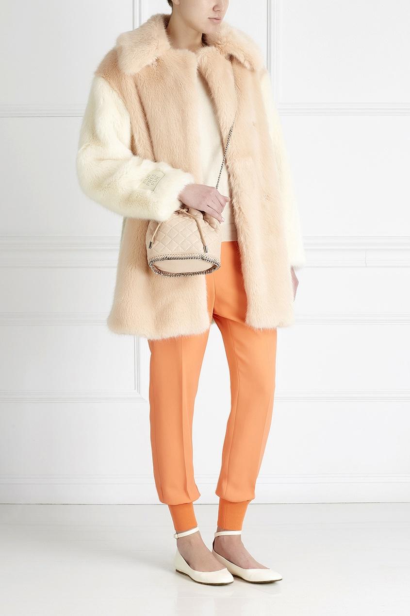 Фото 2 - Однотонные брюки от Stella McCartney оранжевого цвета