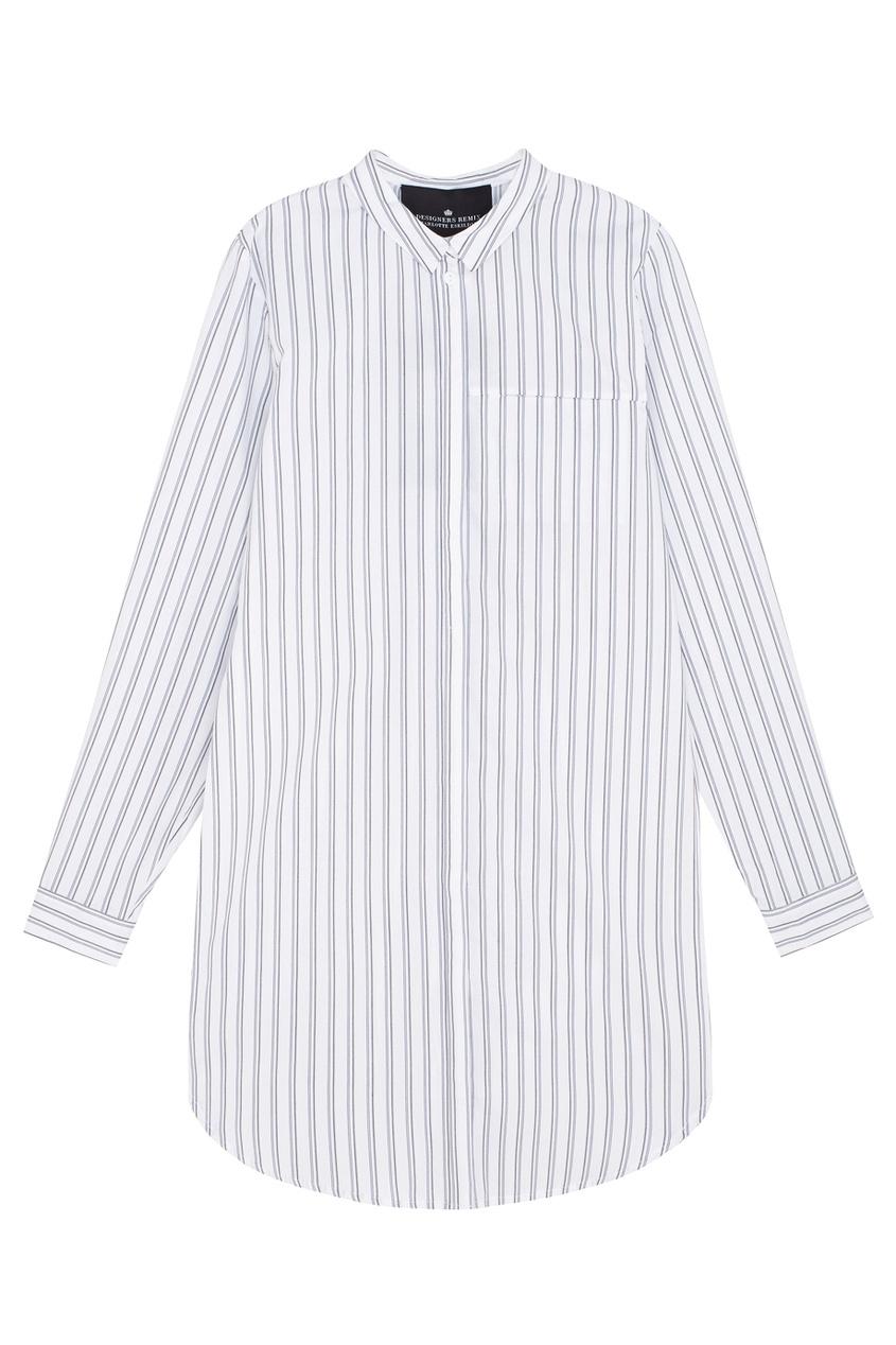 Хлопковая рубашка Brigitte Long