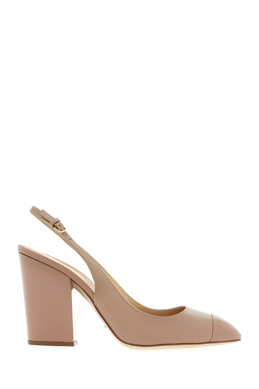 Фото 2 - Кожаные туфли от Sergio Rossi бежевого цвета