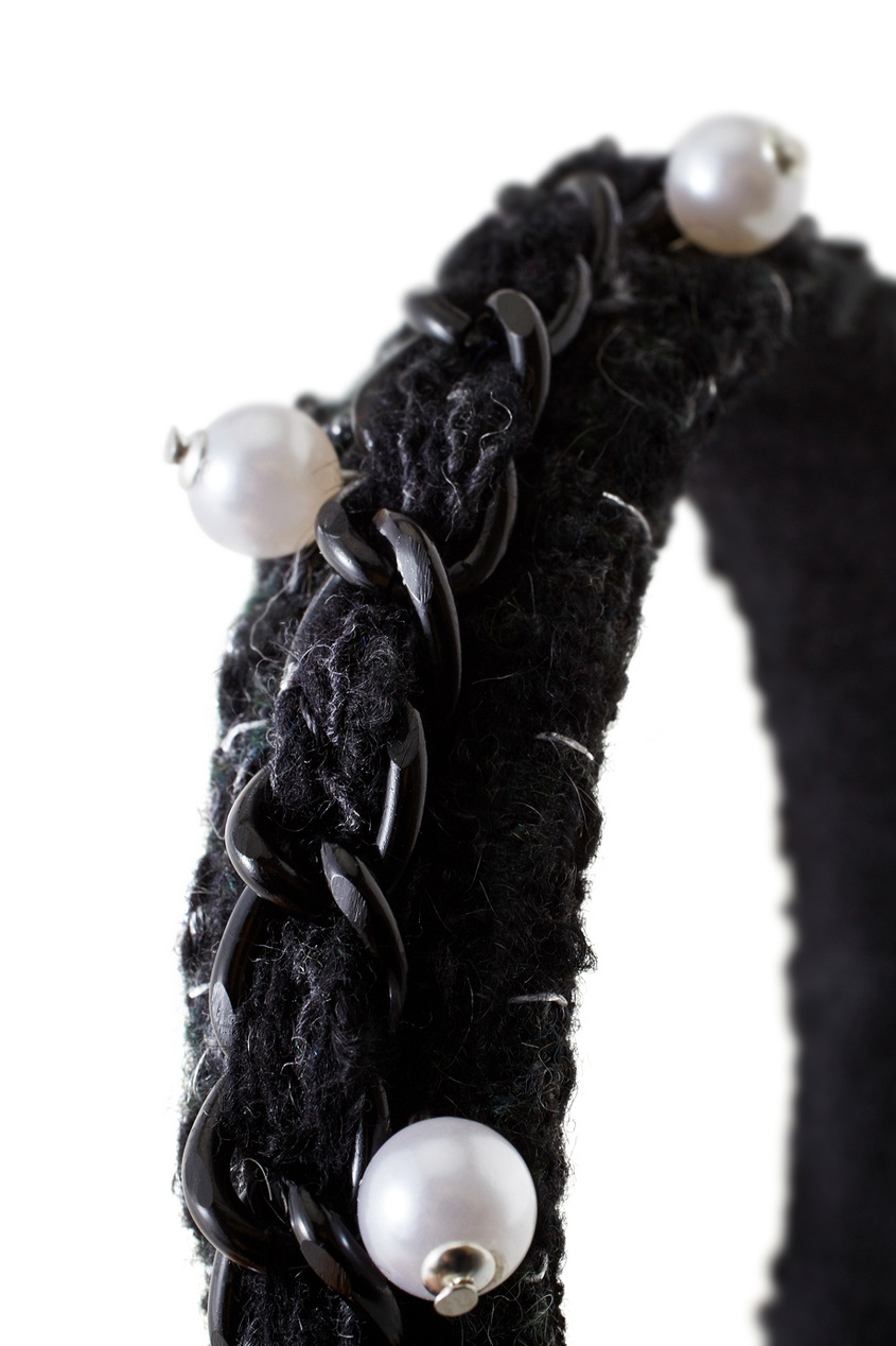 Фото 2 - Ободок для волос от Konstantin Gayday черного цвета