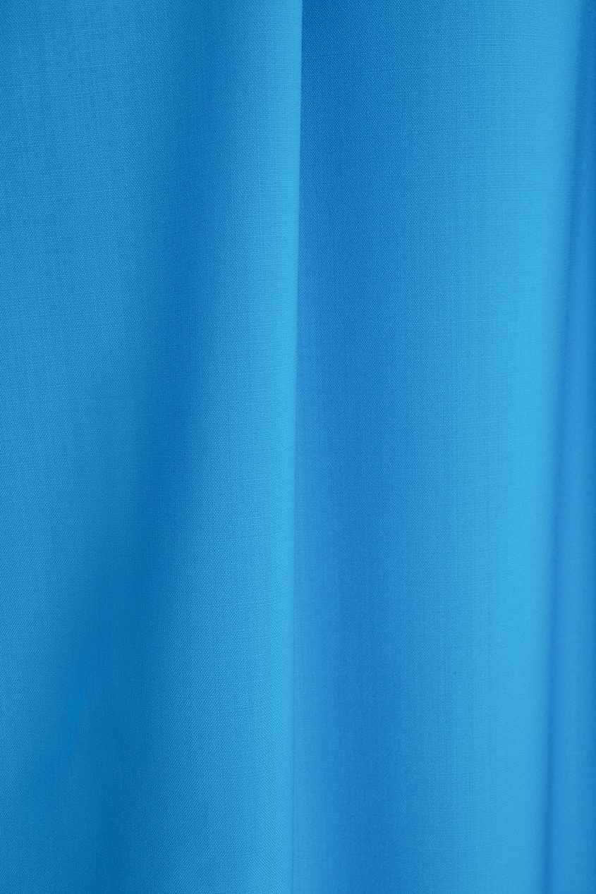 Фото 4 - Однотонное платье от Victoria Andreyanova синего цвета