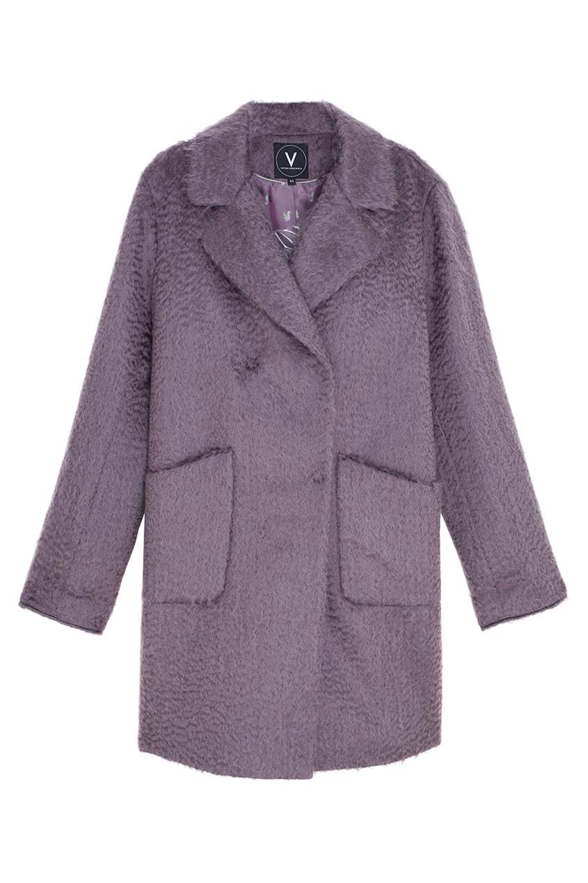 Фото 5 - Пальто из мохера и шерсти от Victoria Andreyanova фиолетового цвета