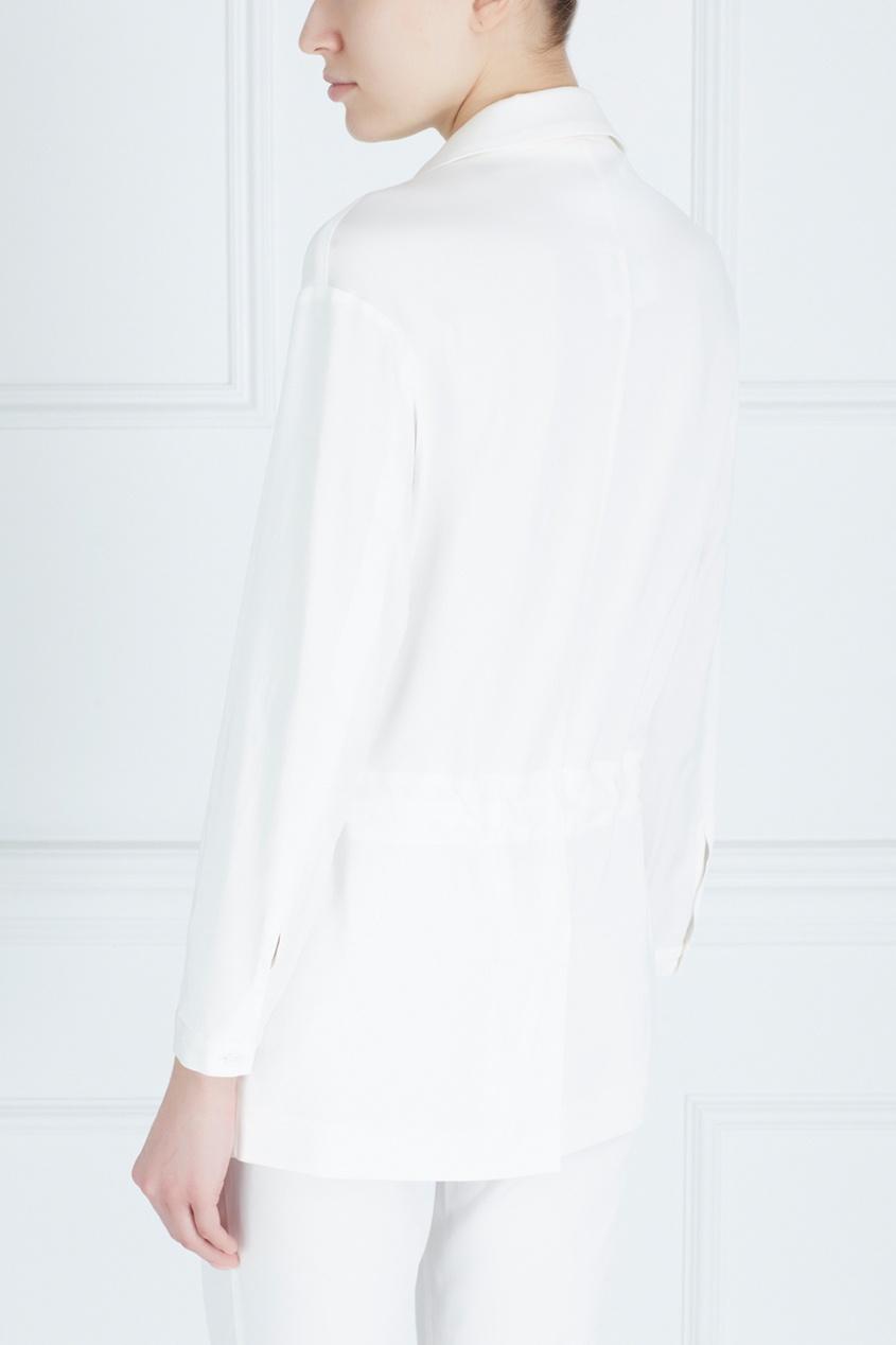 Фото 3 - Однотонный жакет от Victoria Andreyanova белого цвета
