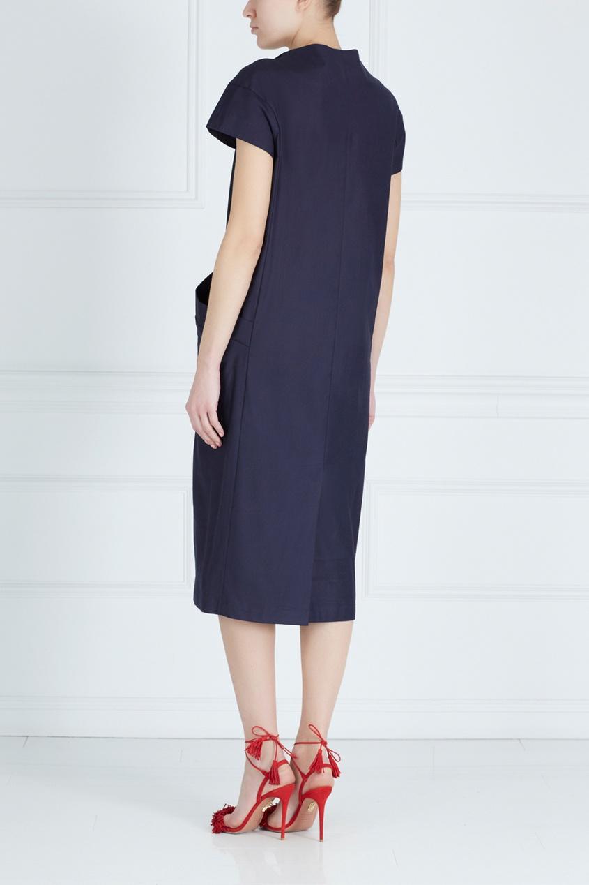Фото 2 - Хлопковое платье от Victoria Andreyanova синего цвета
