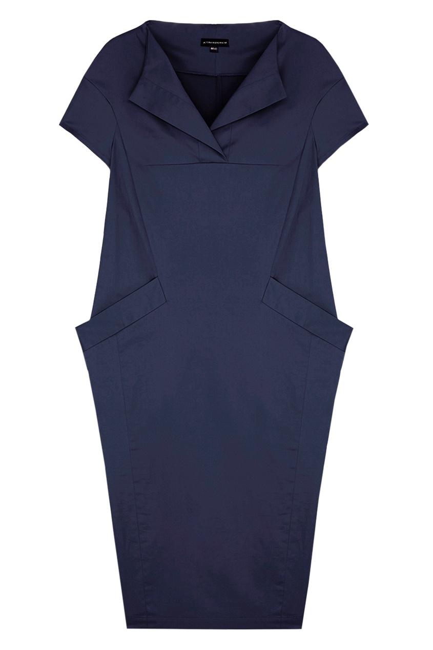 Фото 3 - Хлопковое платье от Victoria Andreyanova синего цвета