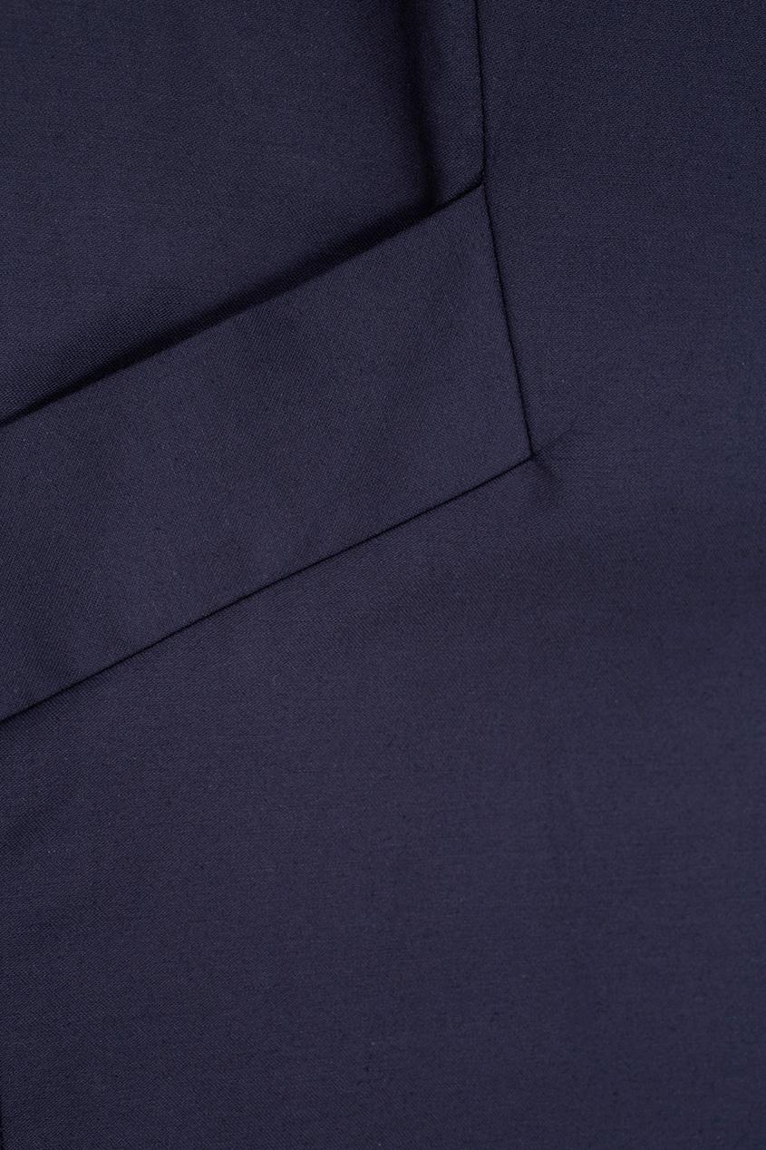 Фото 4 - Хлопковое платье от Victoria Andreyanova синего цвета