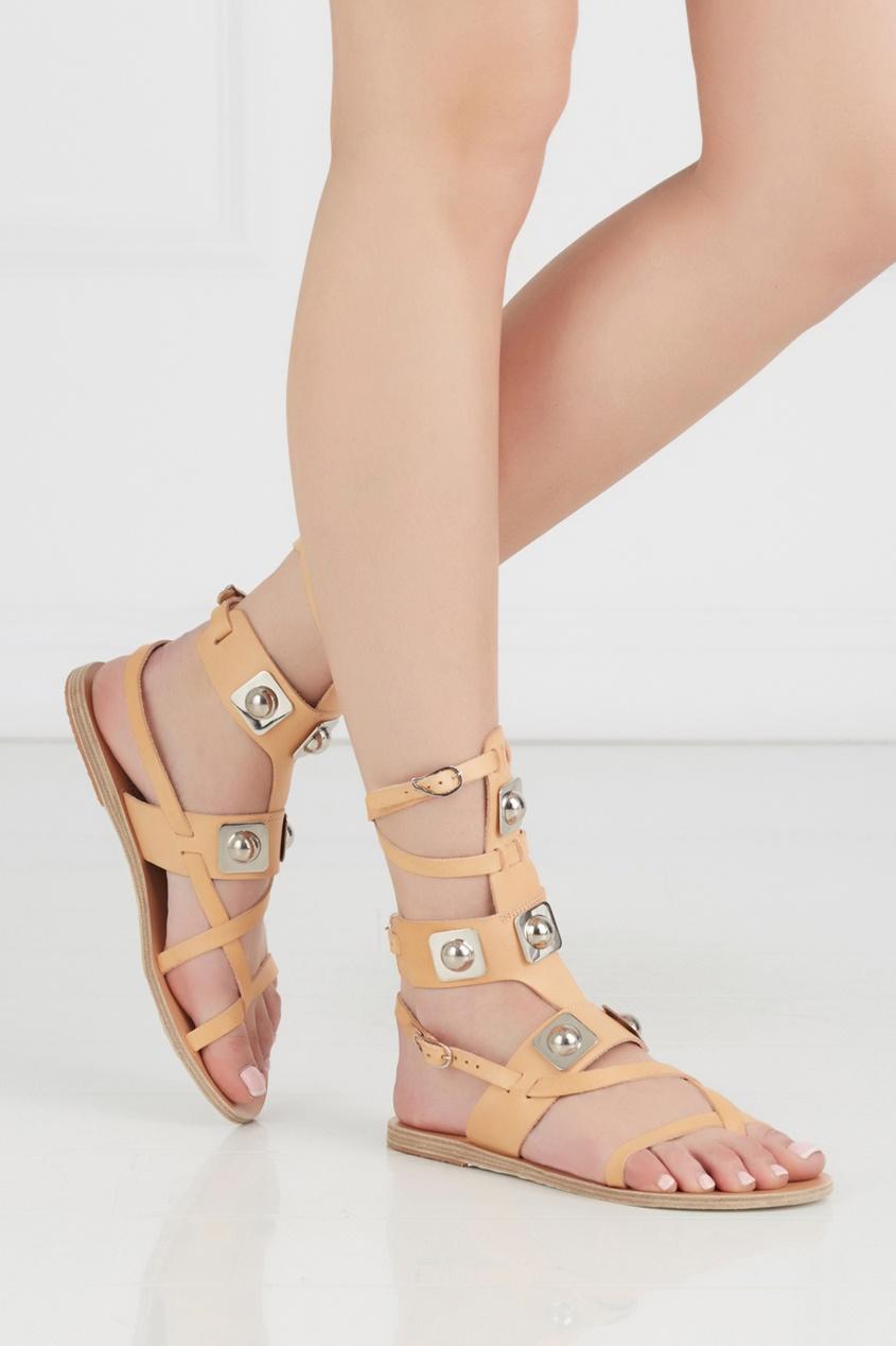 Кожаные сандалии Low Gladiator