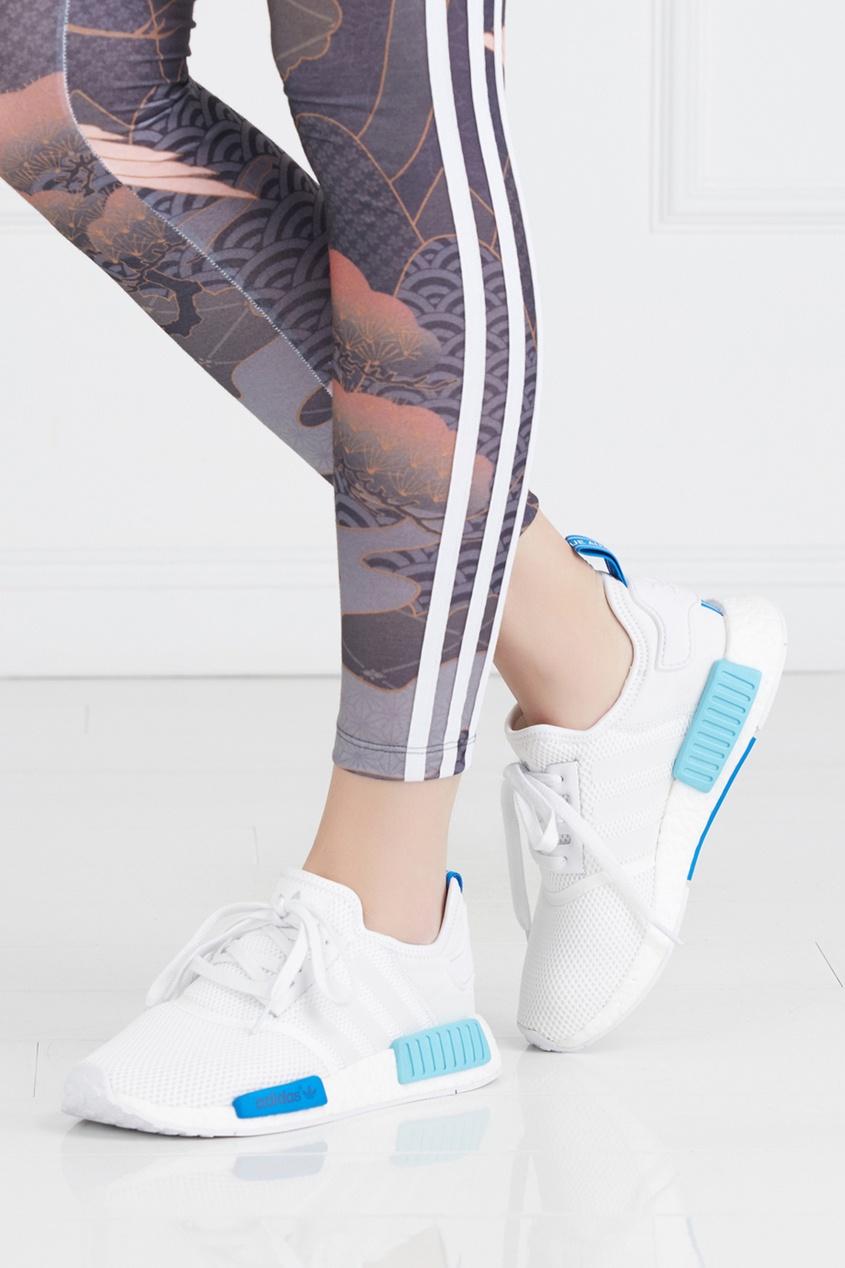 Фото - Однотонные кроссовки NMD_R1 W белого цвета