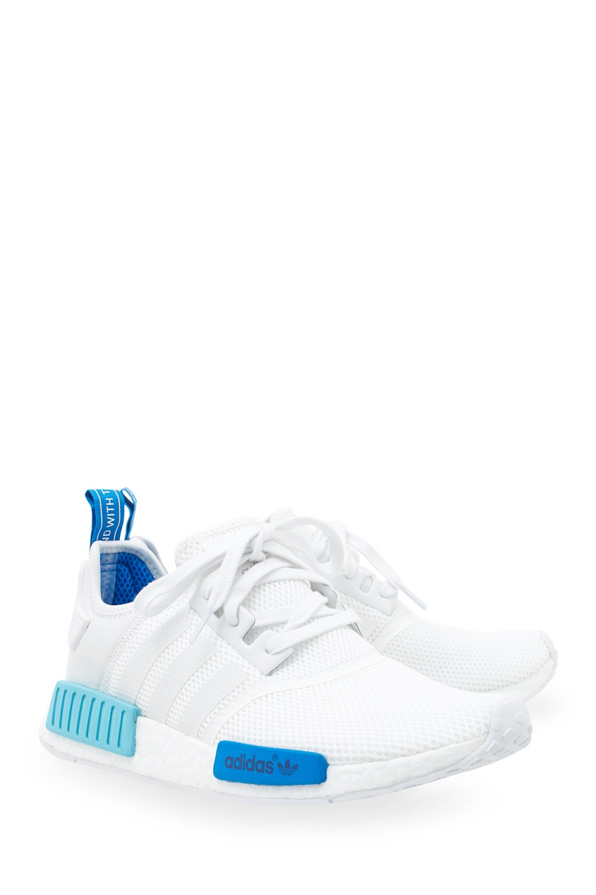 Фото 4 - Однотонные кроссовки NMD_R1 W белого цвета