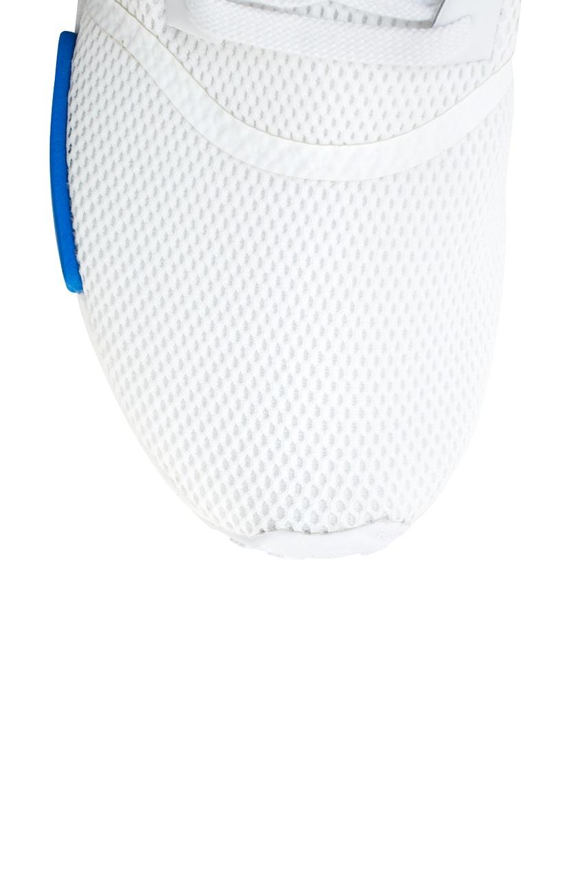 Фото 5 - Однотонные кроссовки NMD_R1 W белого цвета