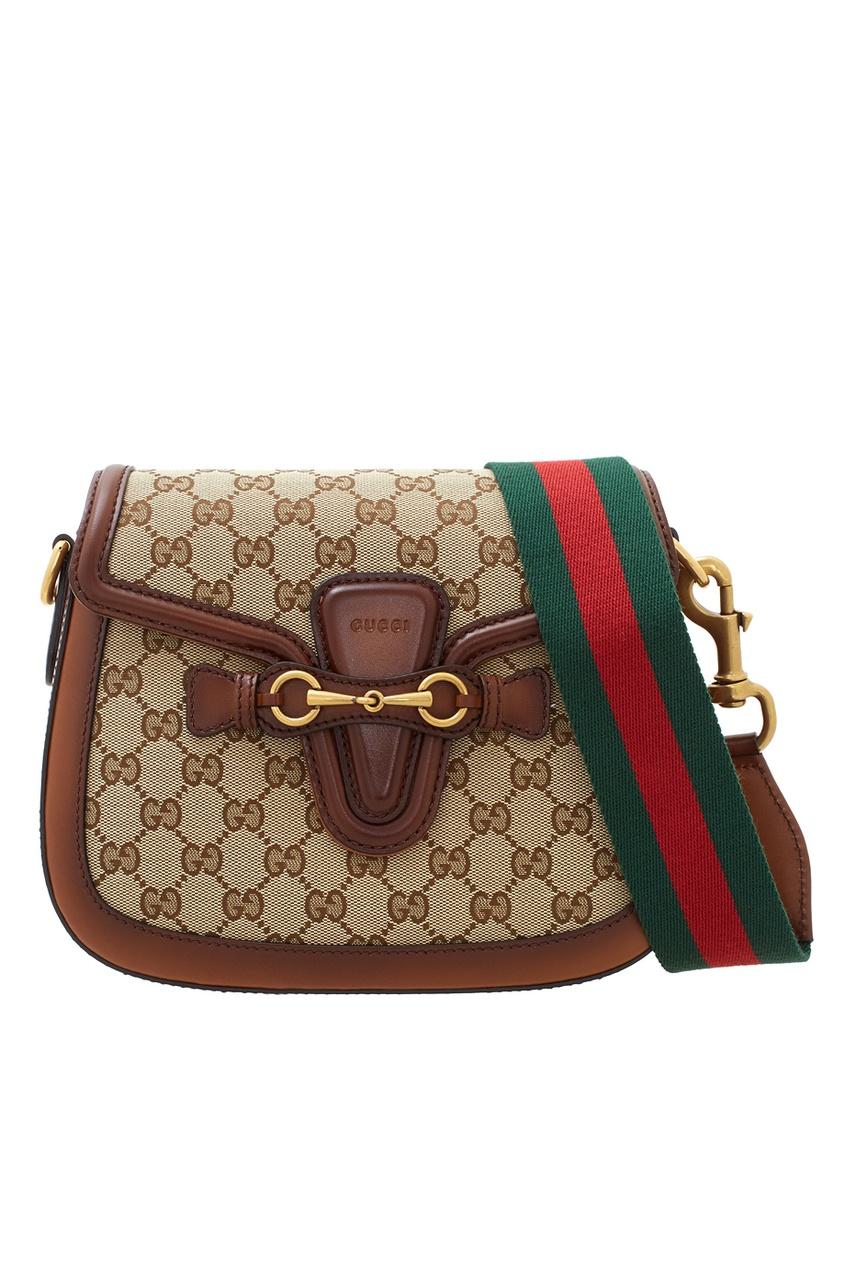 Фото 3 - Сумку Lady Web GG от Gucci бежевого цвета