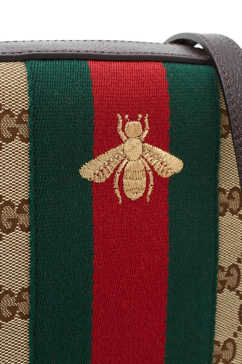 Фото 4 - Сумку Linea G от Gucci бежевого цвета