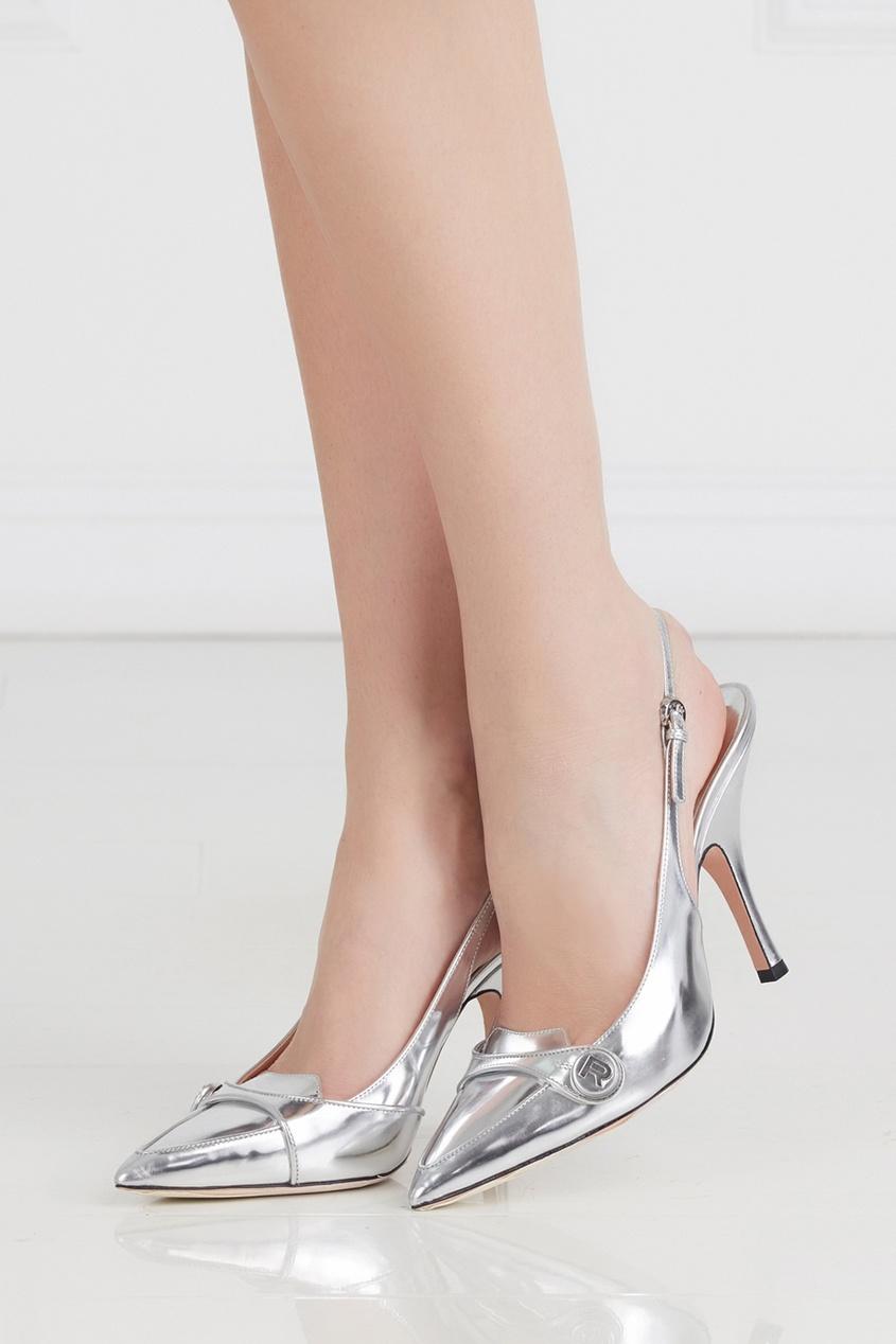 Туфли из металлизированной кожи