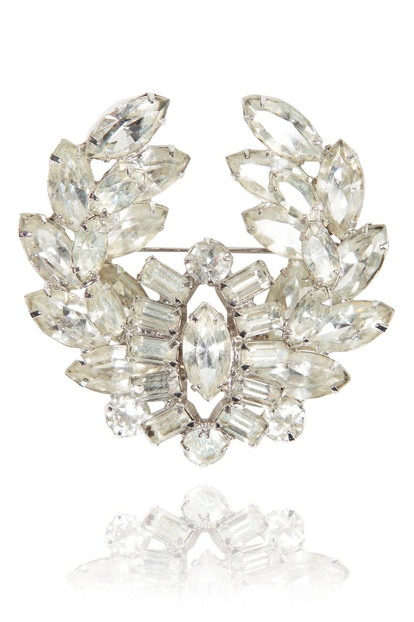 Christian Dior Vintage Брошь с кристаллами (60-е)