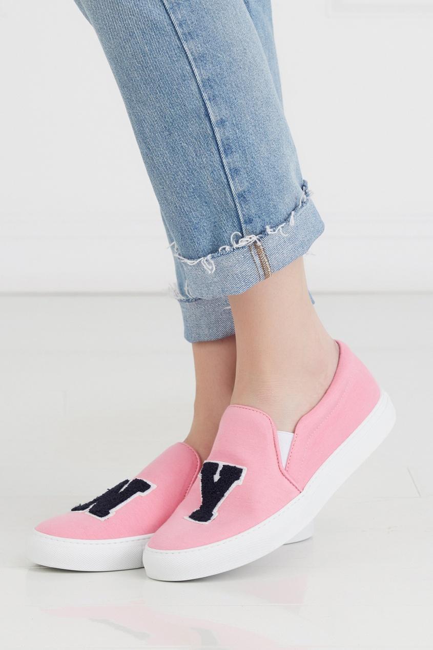 Хлопковые слипоны NY Pink Jersey