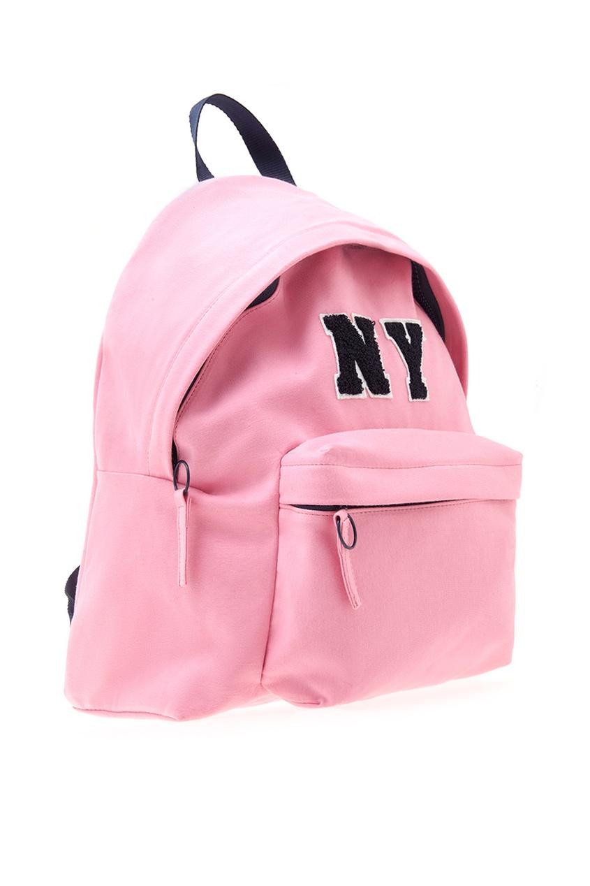 Фото 4 - Хлопковый рюкзак от Joshua Sanders розового цвета