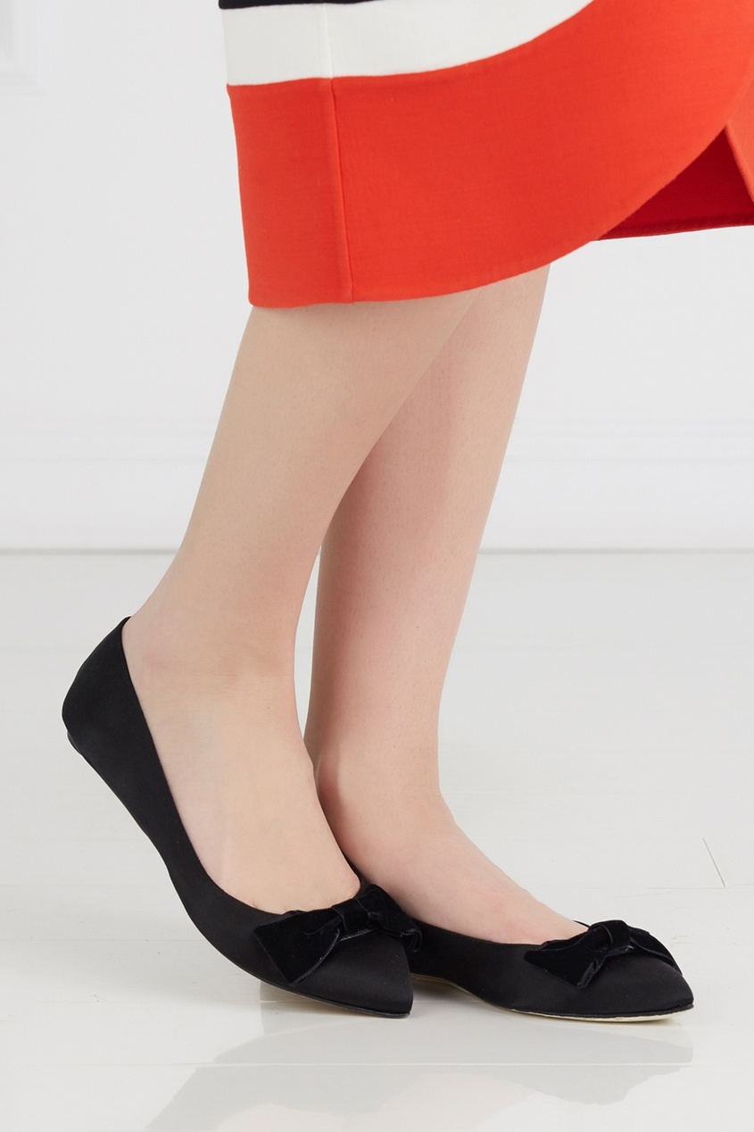 Туфли из сатина