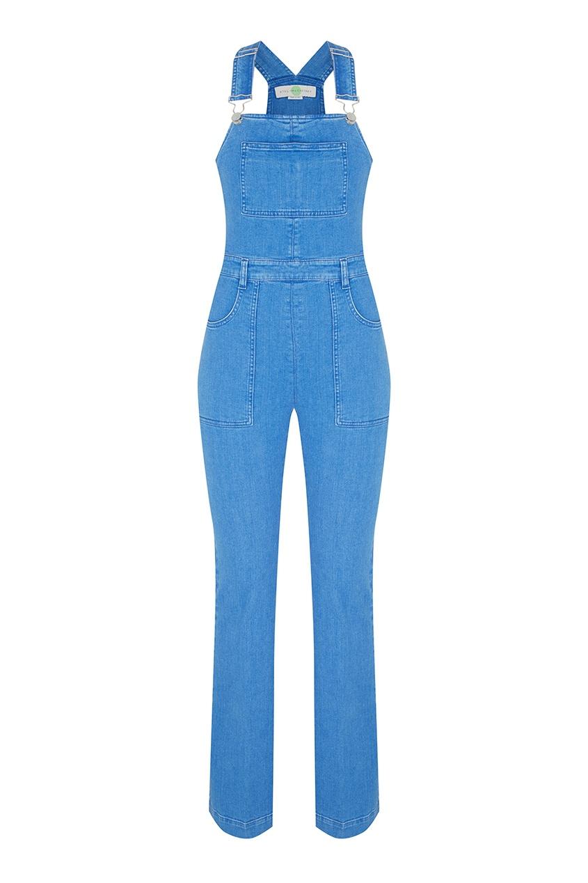 Фото 3 - Комбинезон из денима от Stella McCartney голубого цвета