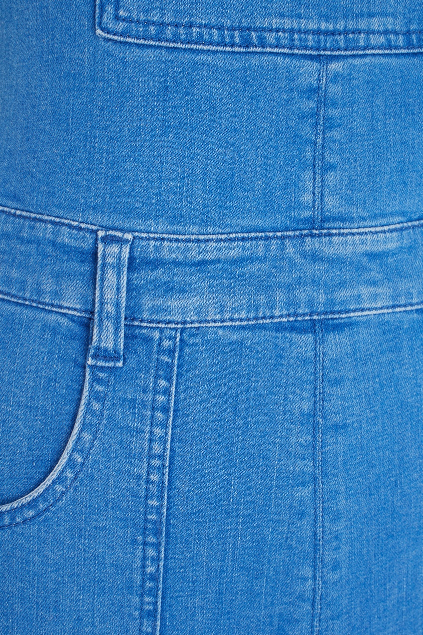 Фото 4 - Комбинезон из денима от Stella McCartney голубого цвета