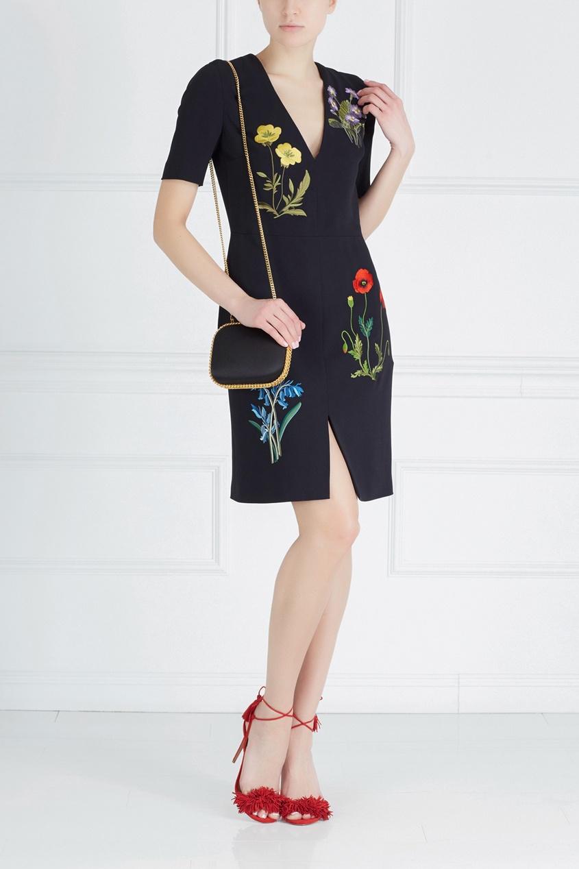 Фото - Платье с вышивкой от Stella McCartney цвет multicolor
