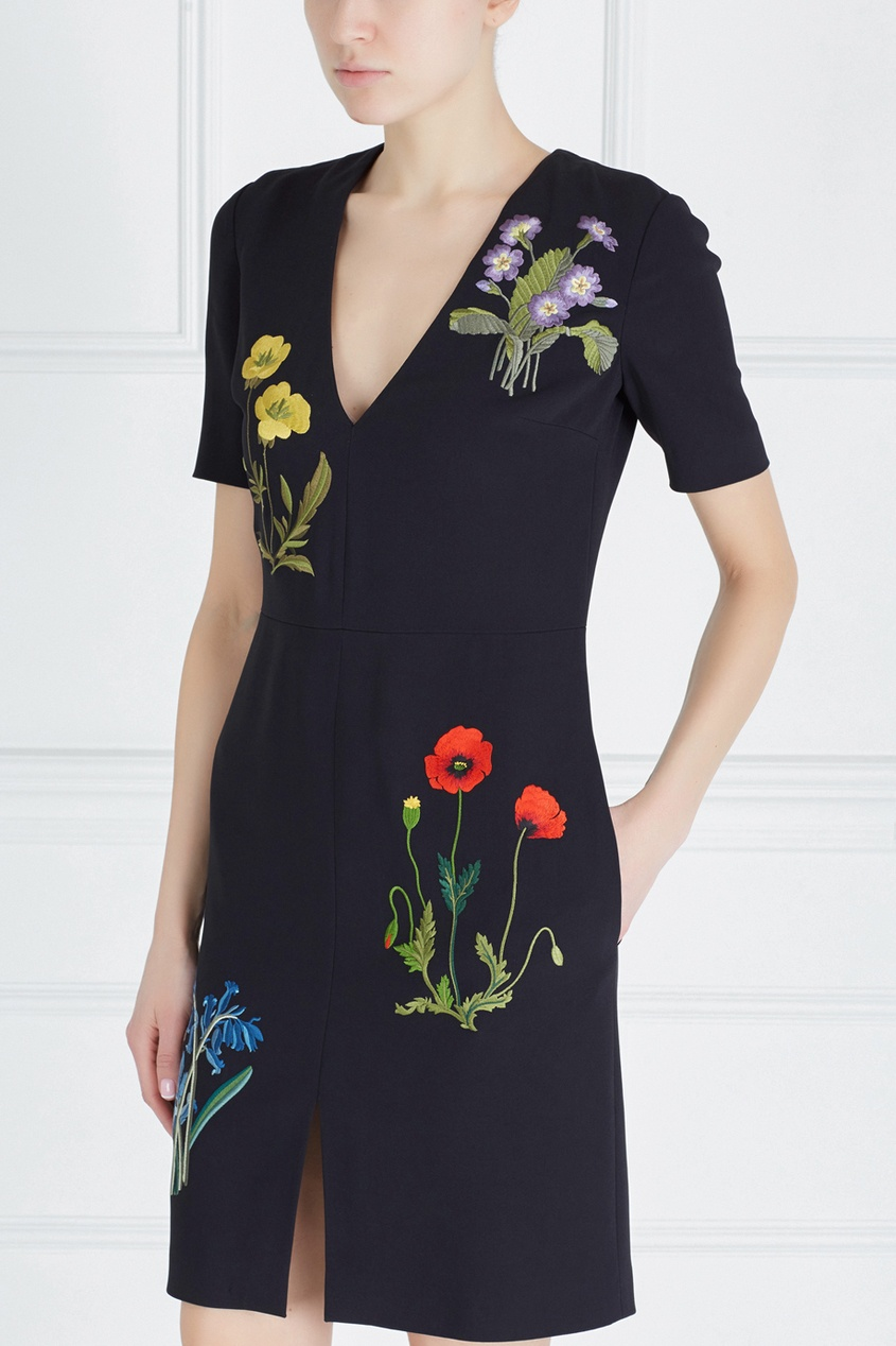 Фото 3 - Платье с вышивкой от Stella McCartney цвет multicolor