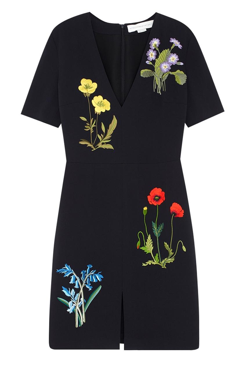 Фото 5 - Платье с вышивкой от Stella McCartney цвет multicolor