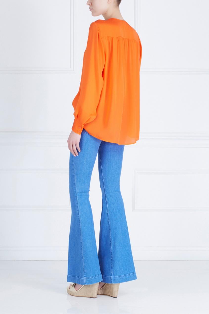 Фото 2 - Шелковая блузка от Stella McCartney оранжевого цвета