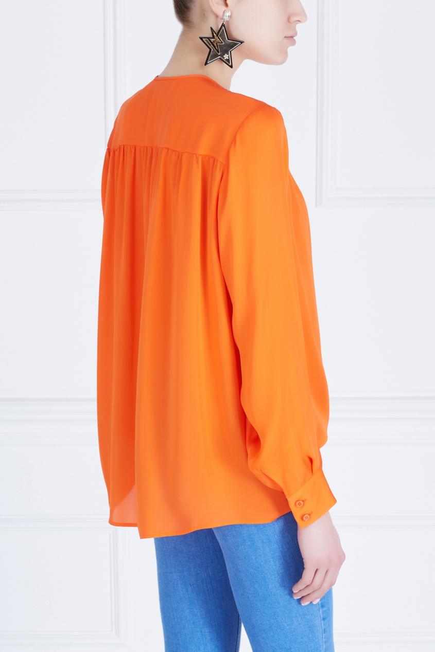 Фото 4 - Шелковая блузка от Stella McCartney оранжевого цвета
