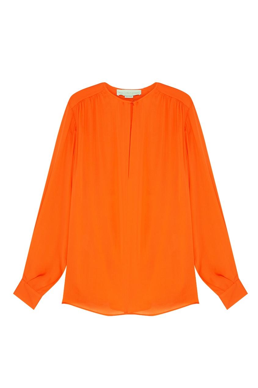 Фото 5 - Шелковая блузка от Stella McCartney оранжевого цвета