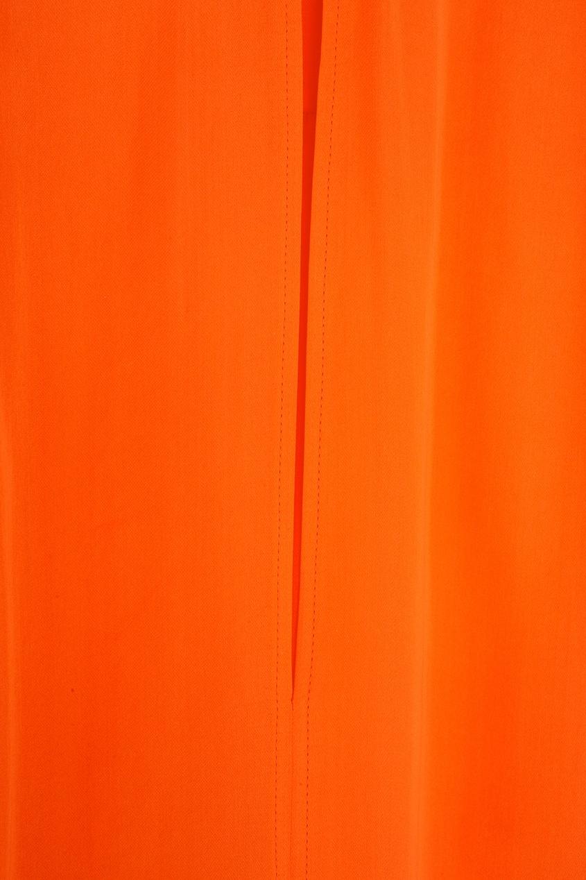 Фото 6 - Шелковая блузка от Stella McCartney оранжевого цвета