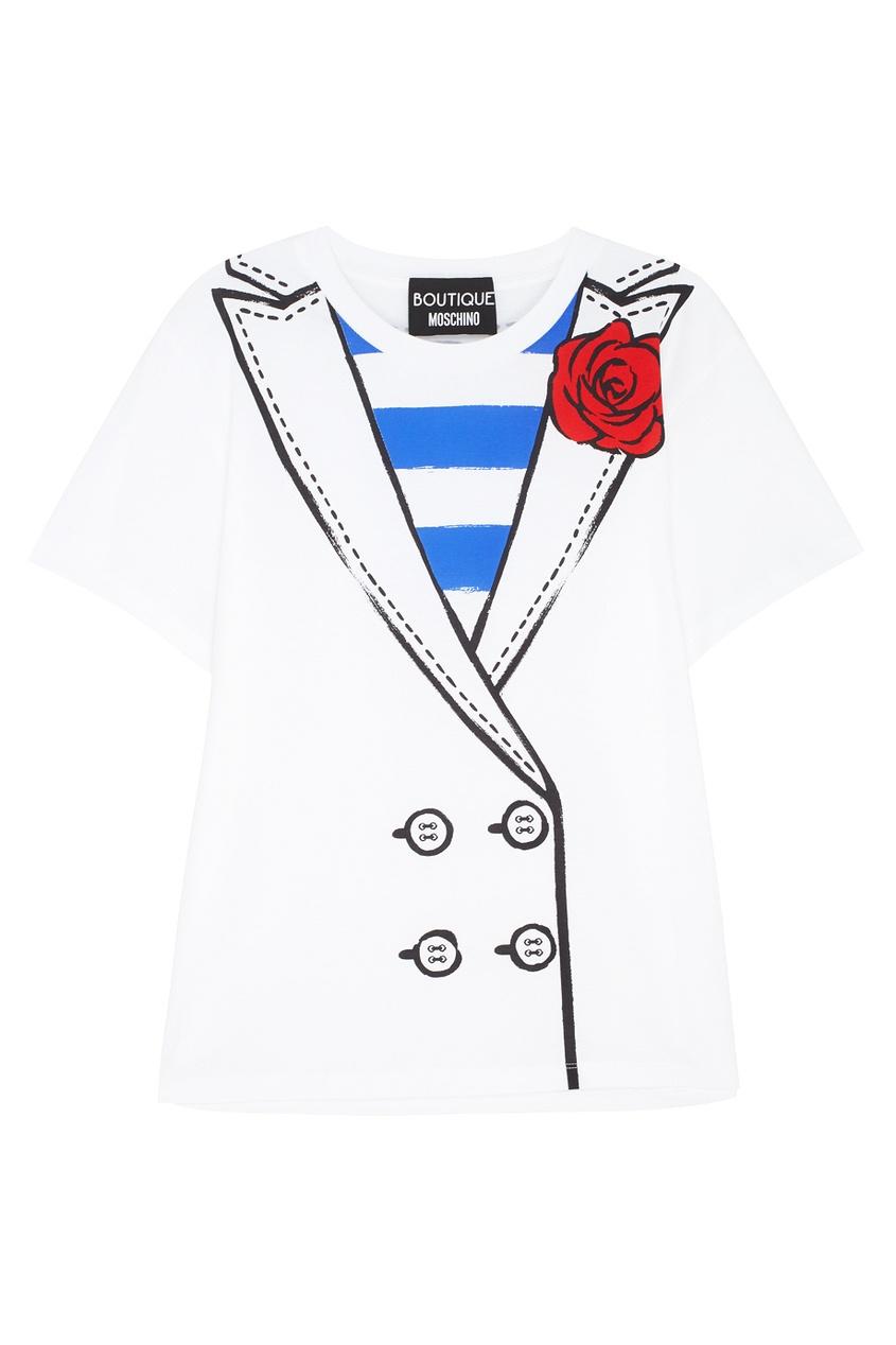 Boutique Moschino Хлопковая футболка