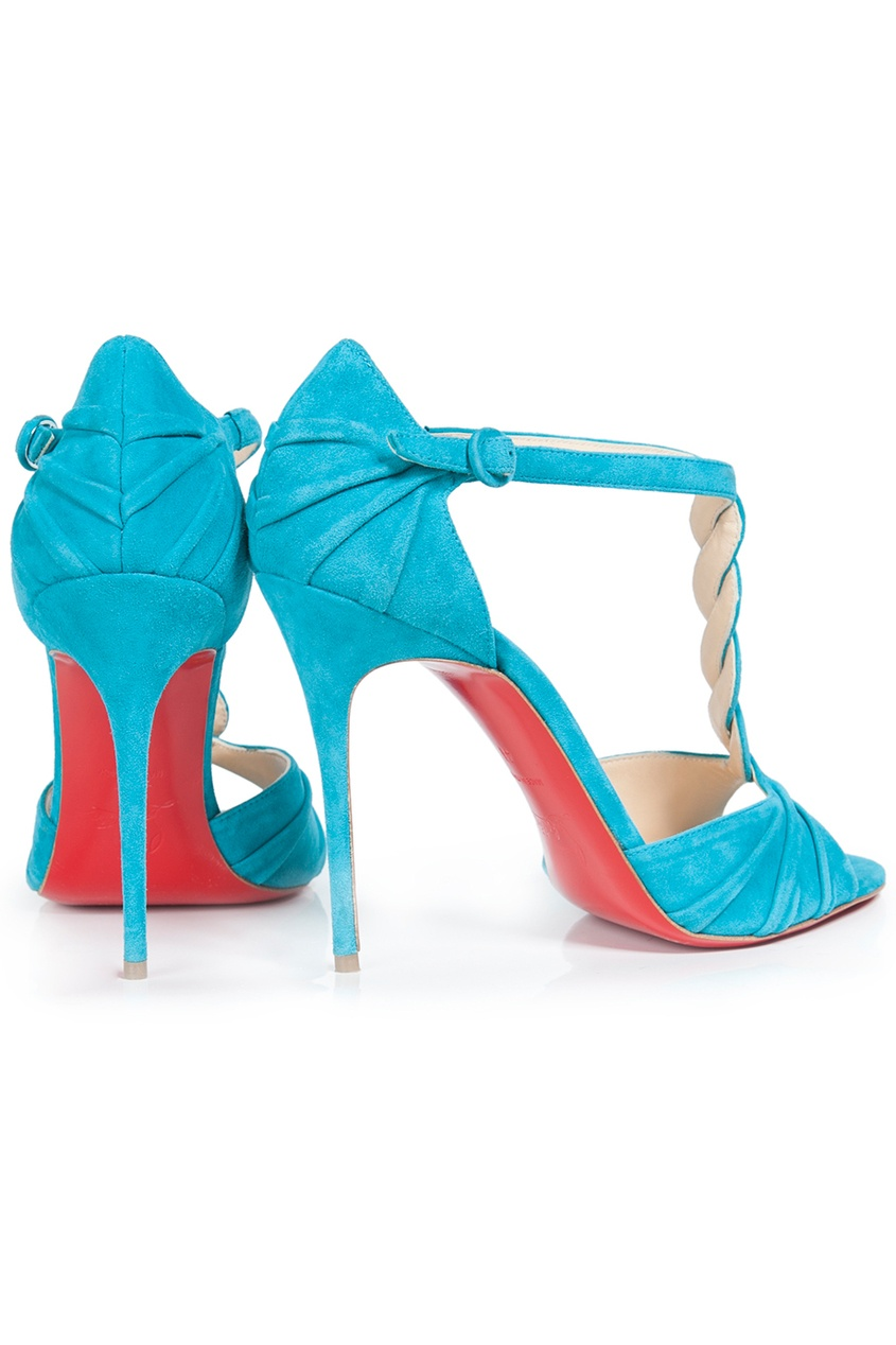 Christian Louboutin Замшевые босоножки Jazzy Doll 100 Suede