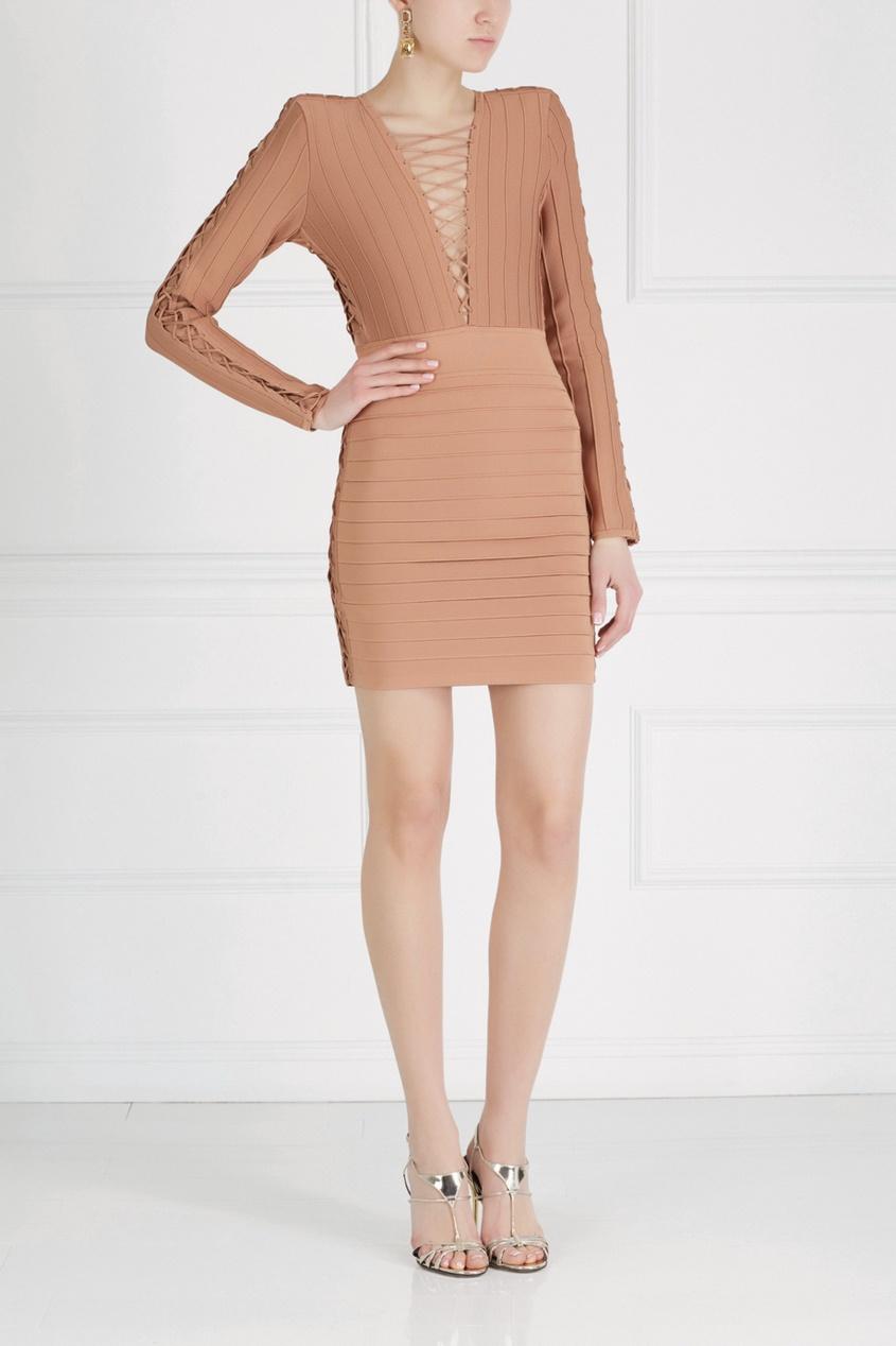Balmain Однотонное платье