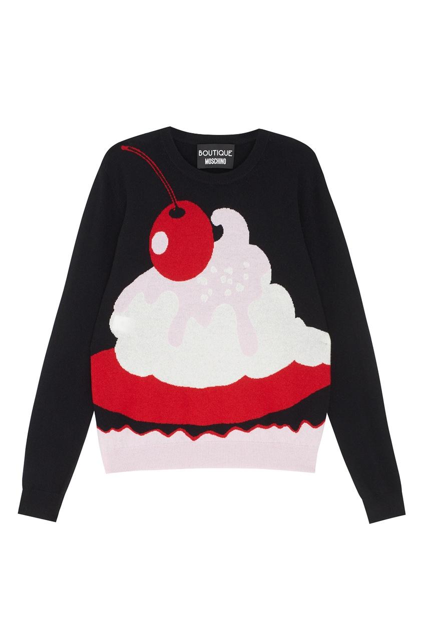Фото - Кашемировый джемпер от Boutique Moschino цвет multicolor