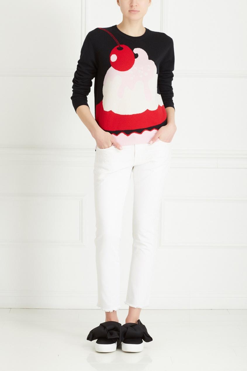 Фото 6 - Кашемировый джемпер от Boutique Moschino цвет multicolor