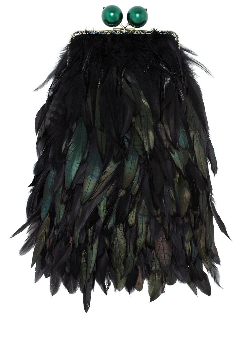 Клатч с перьями Gloria