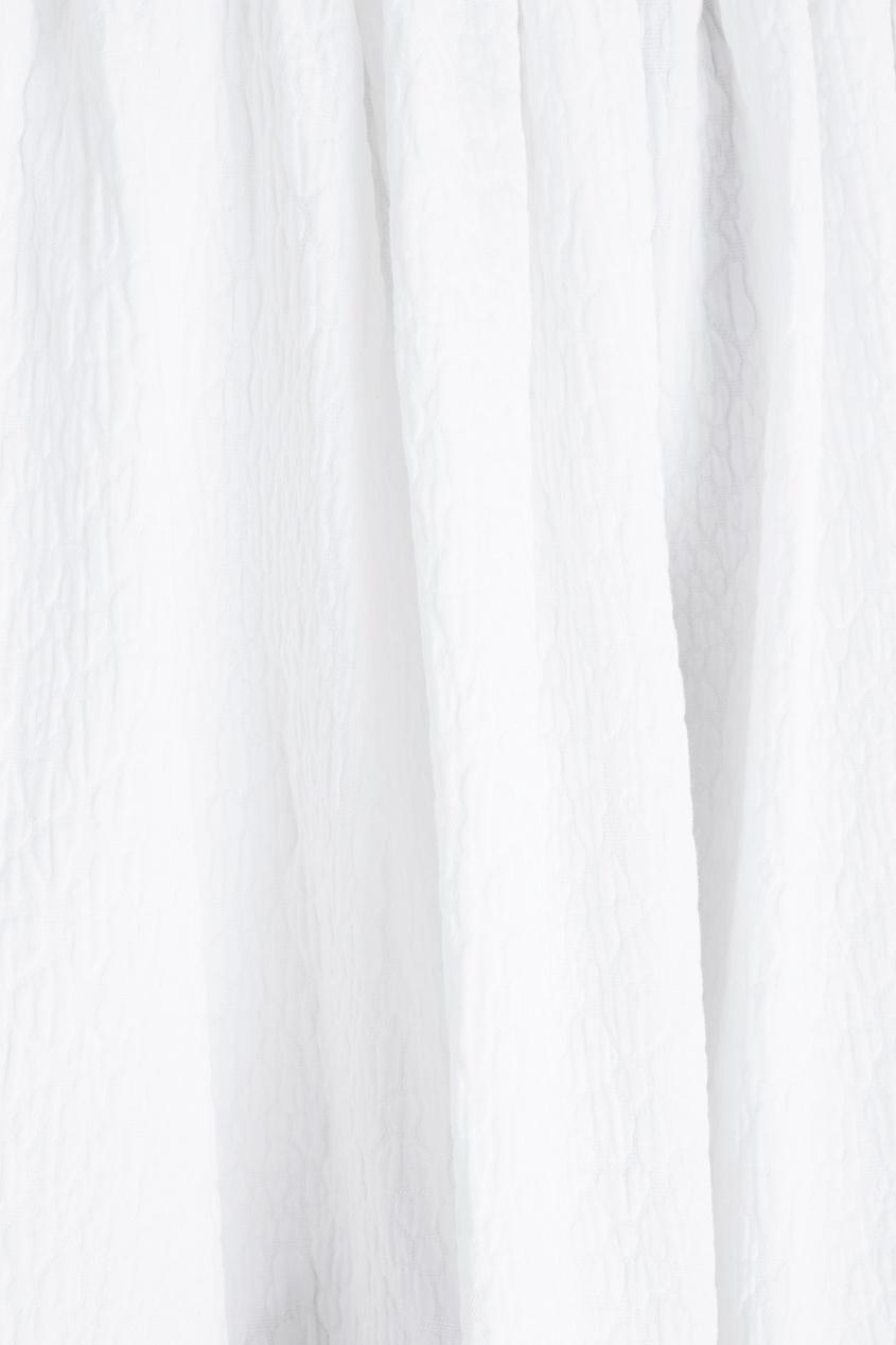 Фото 2 - Хлопковая юбка от Chapurin белого цвета