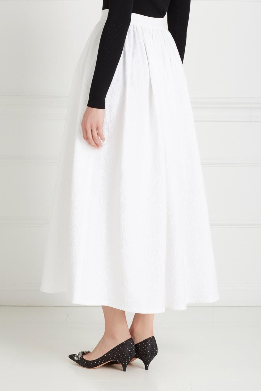 Фото 4 - Хлопковая юбка от Chapurin белого цвета