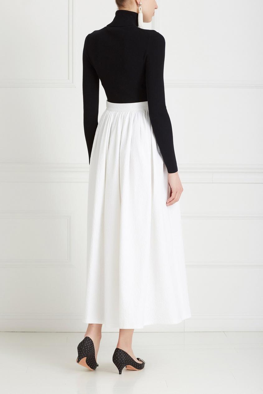 Фото 5 - Хлопковая юбка от Chapurin белого цвета