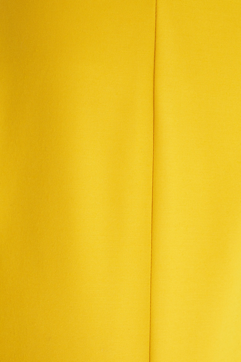 Фото 2 - Хлопковые брюки от Chapurin желтого цвета
